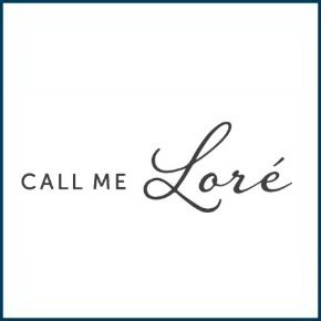 call me lore logo with border