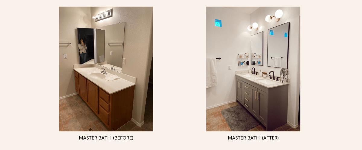 low cost owner s suite bathroom update