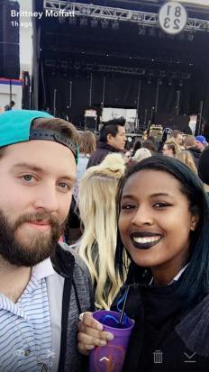 Brad and Brittney at 8123 Fest