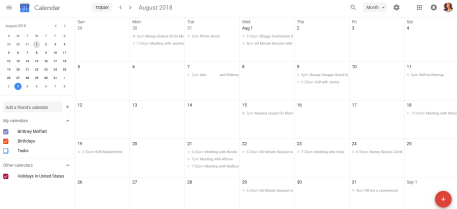 google calendar business tool