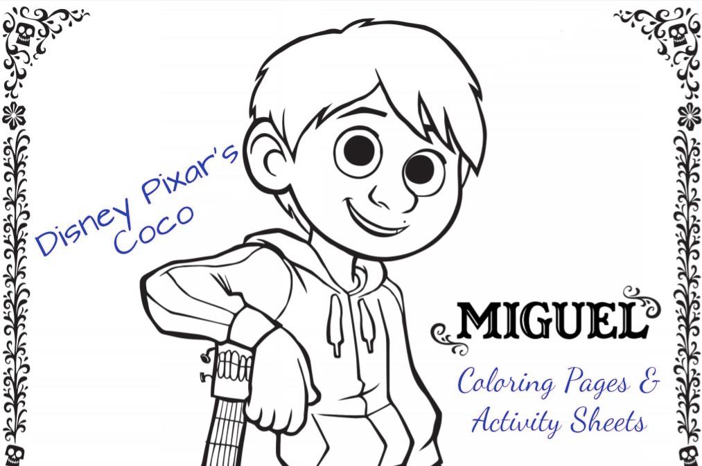Fun Printable Disney•Pixar's COCO Activity Pages #