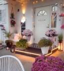 Front Door With Flowers - evinizdenkareler Instagram