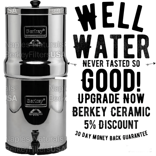 berkey ceramic water filter for well water