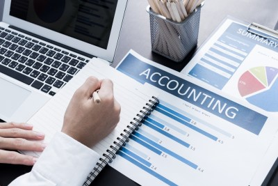An image of an accountant at work