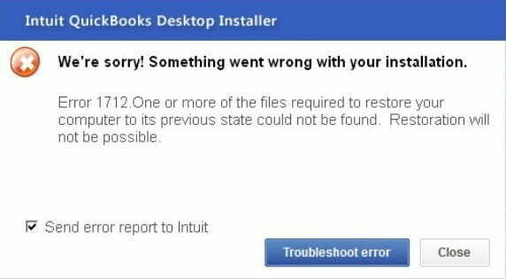 QuickBooks Error 1712
