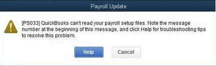 How to Fix QuickBooks Payroll Error PS033? - Steps to Resolve