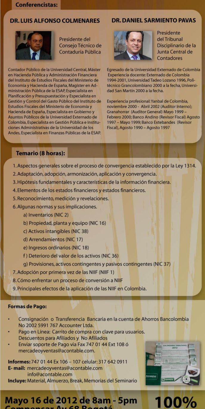Seminario Normas Internacionales de Información Financiera
