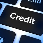 Credit Key Representing Finance Or Loan For Purchasing