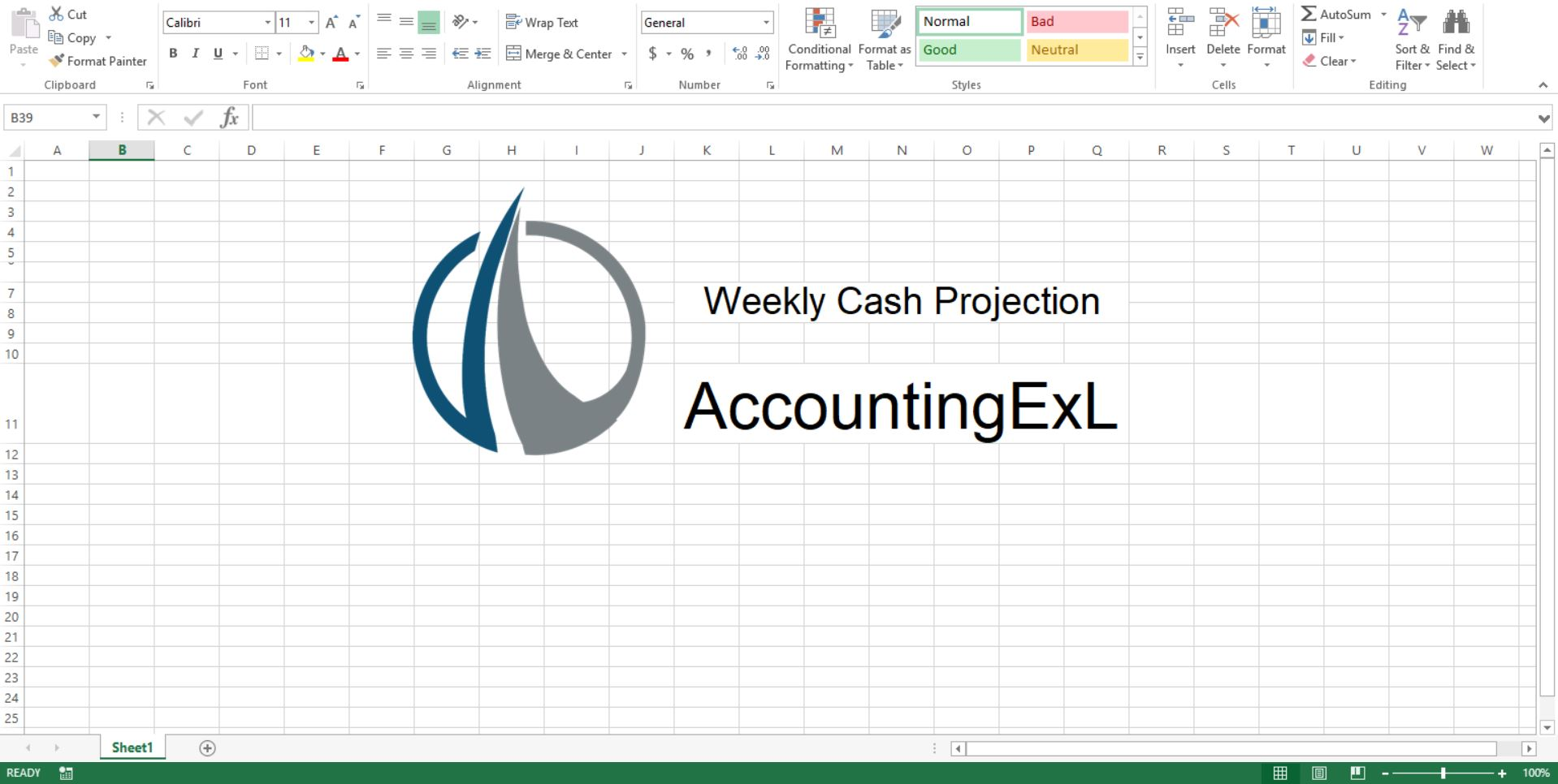 Weekly Cash Projection Worksheet Accountingexl