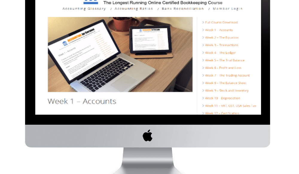 Accounting for Everyone Bookkeeping Course Week 1 Screenshot