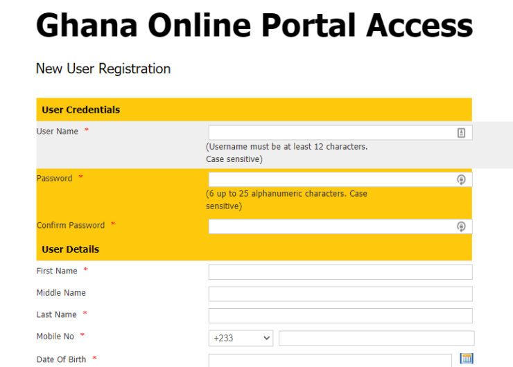 rgd form How to register your business online in Ghana