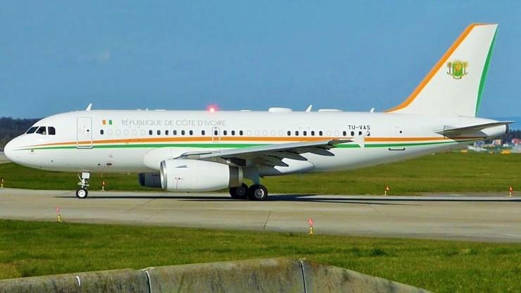 Cote d'Ivoire presidential jet Airbus-319