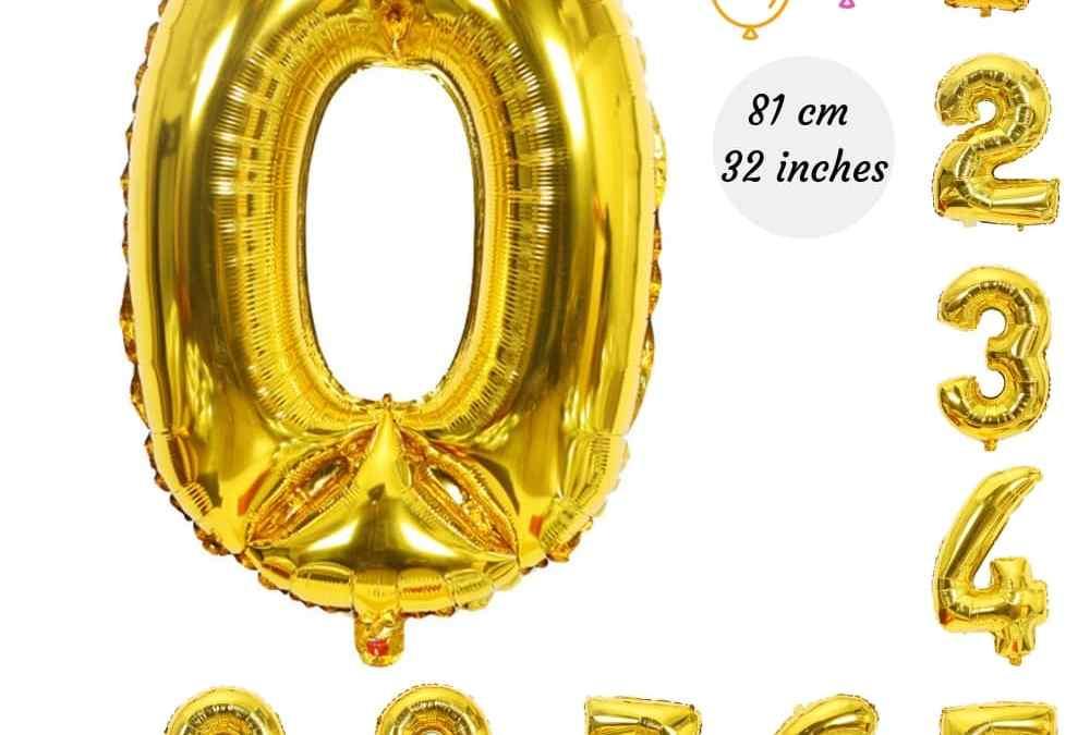 Ballons Chiffres pour vos décorations anniversaire