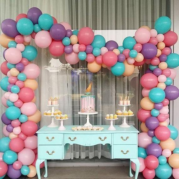 Sur Pinterest 20′ Balloon Garland DIY Kit Cotton Candy Dream