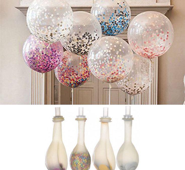 Sur Pinterest 20 Pcs Colorful Confetti Balloon Birthday Wedding Party Helium Balloon