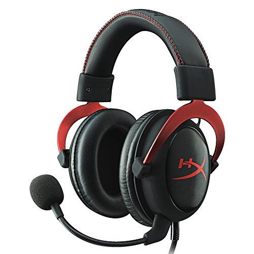 Casque de jeu HyperX Cloud II - Son surround 7.1 - Coussinets d'oreille en mousse à mémoire de forme - Cadre en aluminium durable - Casque multi-plateformes - Fonctionne avec les ordinateurs PC, PS4, PS4 PRO, Xbox One, Xbox One S - Rouge (KHX-HSCP-RD)