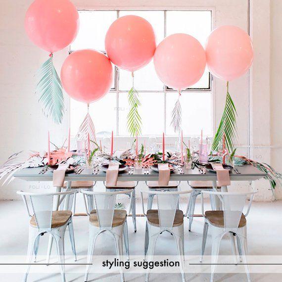 Sur Pinterest 36″ Pink Heart Balloon with Tassel Tail | Jumbo Pink Balloon | HUGE