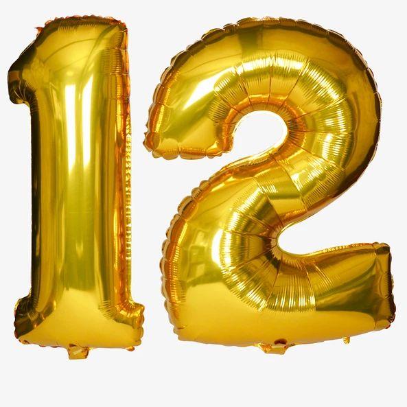 Sur Pinterest 1 grand ballon aluminium Chiffres doré