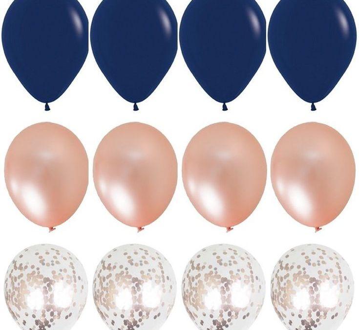 Sur Pinterest Bleu marine et Rose ballon or Bouquet confettis ballons mariage ballon
