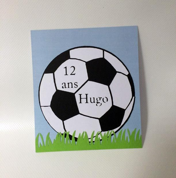 Sur Pinterest Carte anniversaire ballon de foot. Téléchargez le fichier gratuit