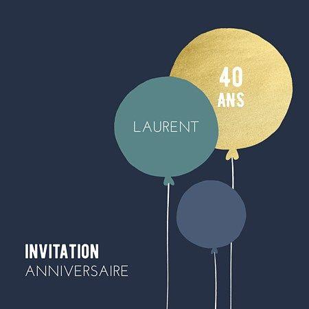 Sur Pinterest Carte d'invitation anniversaire Balloons #invitationanniversaire