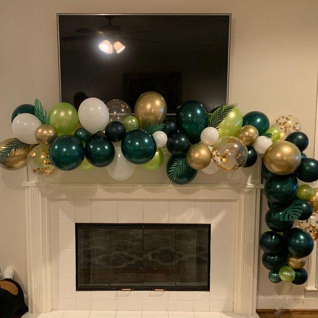 Sur Pinterest Tropical Balloon Arch Kit//Wild thème ballon arches/vert ballons
