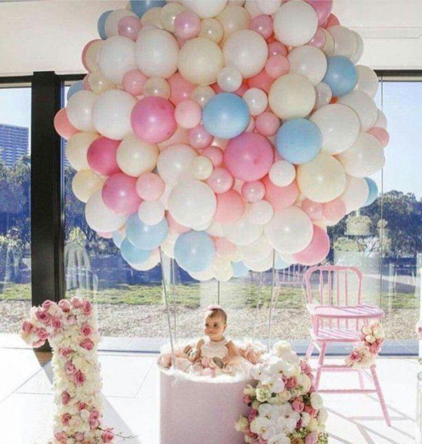 Sur Pinterest idée de décoration anniversaire ballon super original