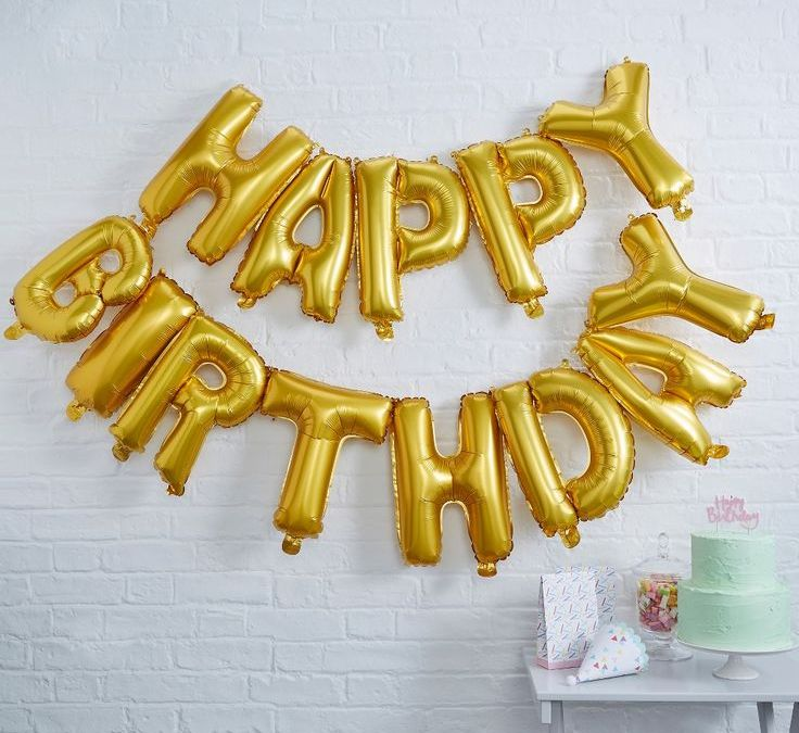 Sur Pinterest 13ct Ginger Ray Gold Happy Birthday Foil Balloon Bunting Pick And Mix