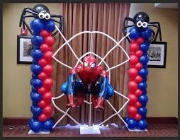 Sur Pinterest spiderman balloon arch decorations #party