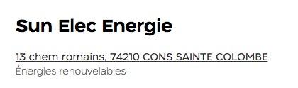 SUN ELEC ENERGIE