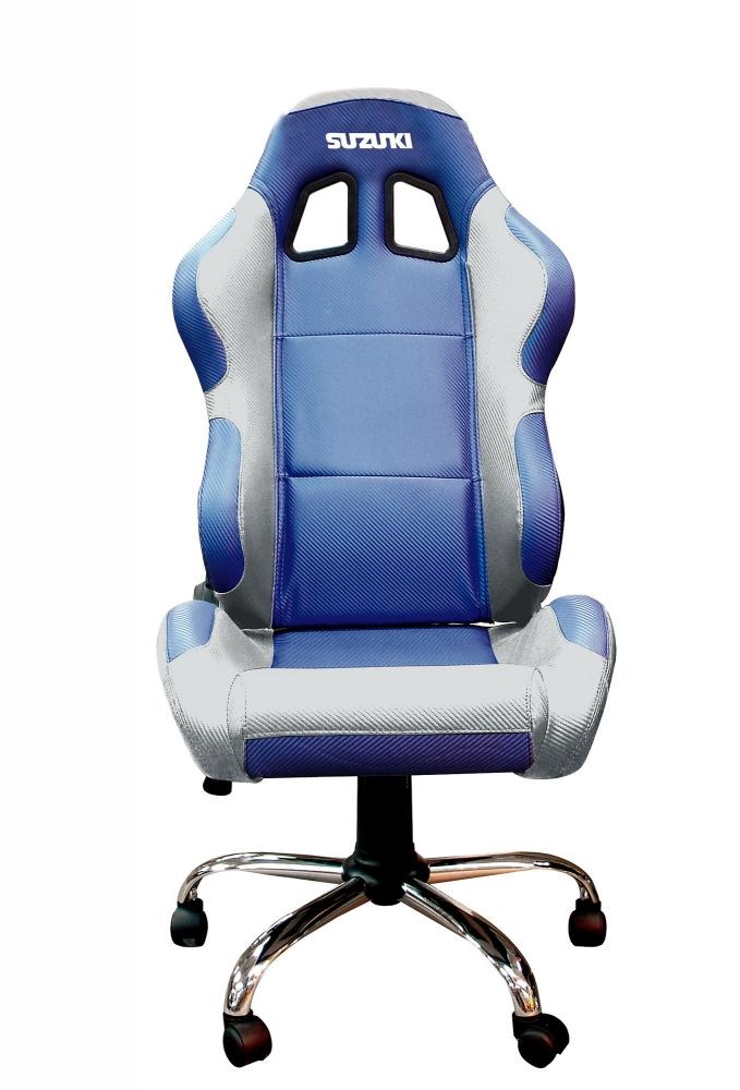 fauteuil de bureau baquet suzuki bleu