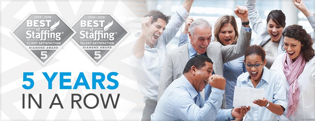 AccruePartners Awarded Inavero Best of Staffing Diamond Honor!