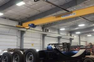 bridge running building crane lifting truck parts welding facility steel