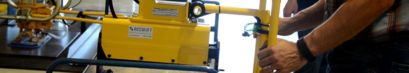 demo equipment hands on crane handler training