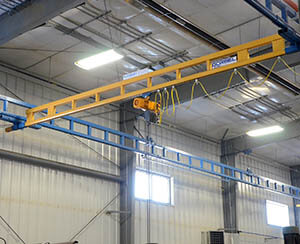workstation overhead crane bridge 2 ton
