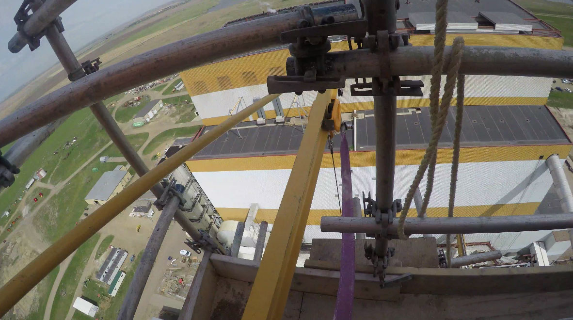 Jib Crane Testing : Fortis construction a very high jib crane load test