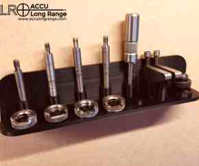 Accu long range Lee reloading case trim / lock stud case length gauge & shell holder organiser