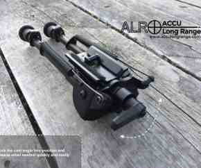 ALR TACv3 9-13in Bipod with lever to stabilise rifle cant.