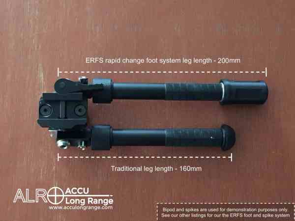 ACCU Long Range Bipod ERFS rapid foot spike cover