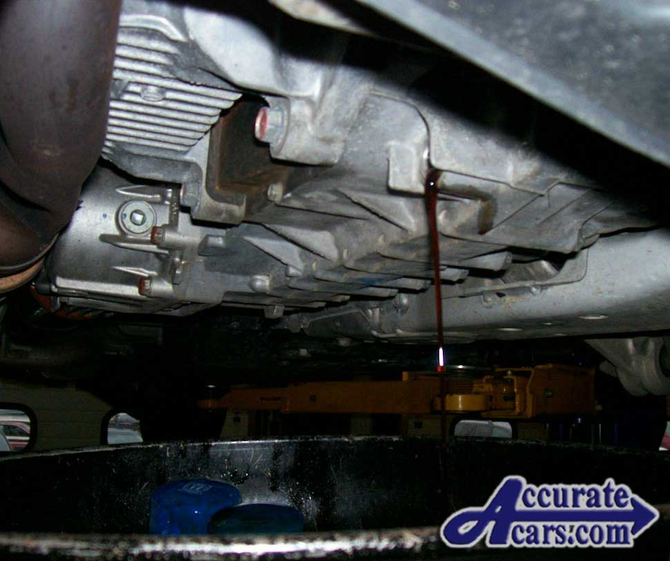 hight resolution of drain the automatic transmission