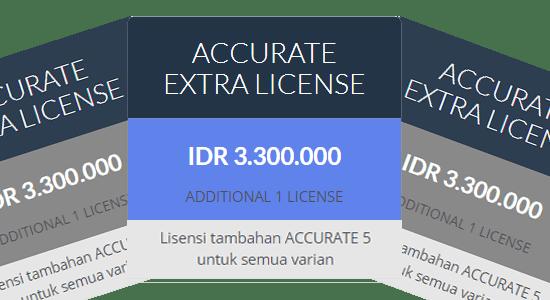 Pembelian EXTRA License Accurate RESMI