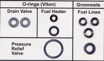 Powerstroke Fuel Filter Drain Valve Seal Kit Late