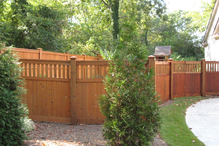 5 Privacy W 1 Accent Style Top Accurate Fence