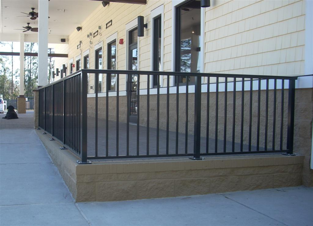 Aluminum Railing W Mushroom Cap Amp Flush Bottom Anchored