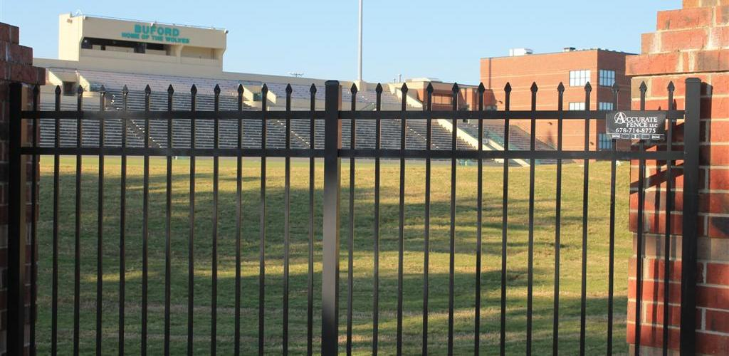 3 Rail Spear Top Aluminum 1 Accurate Fence Atlanta