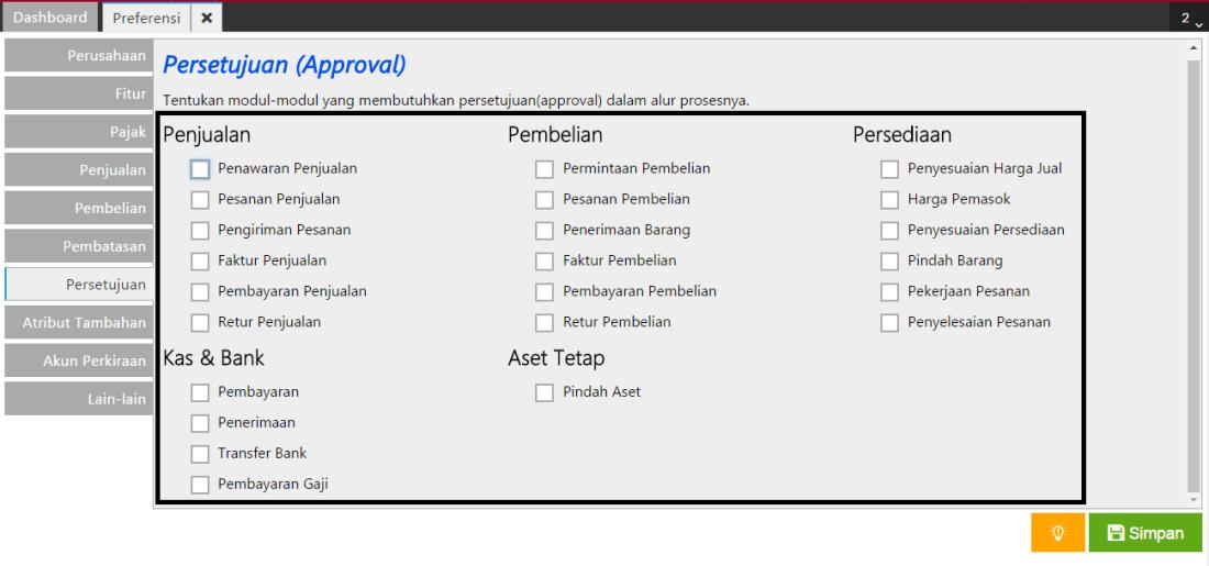 Preferensi Persetujuan