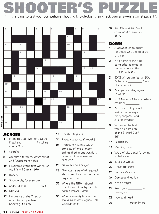 Crossword Puzzle « Daily Bulletin