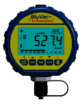 BluVac+ Pro Bluetooth-enabled digital micron vacuum gauge.