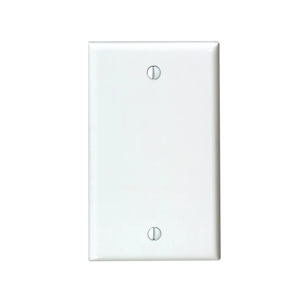 Wall Plate White Single Blank No Device Outlet Cover