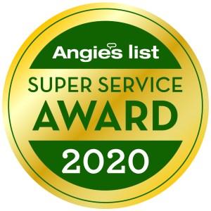 Angies List 2020 award